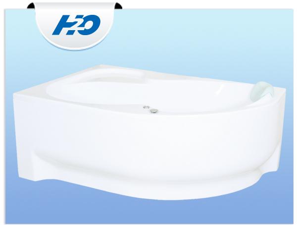 H2O Fortuna Aszimmetrikus kád 150 x 100 cm
