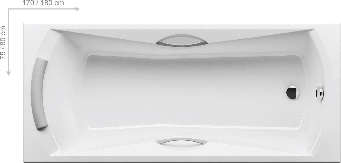 ravak sonata egyenes k d 170 x 75 cm k dvar a k dak szak rt je 2011 ta. Black Bedroom Furniture Sets. Home Design Ideas