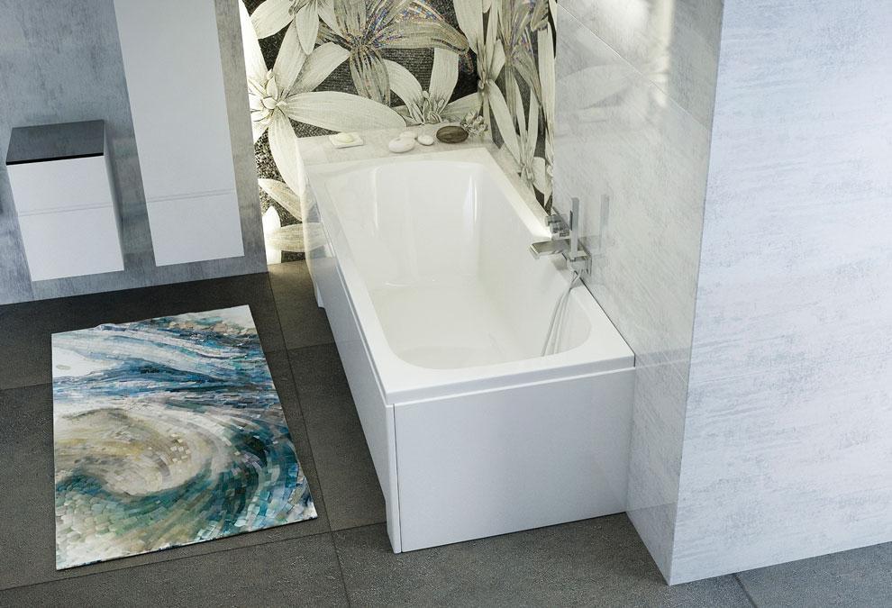 M-Acryl Mira egyenes kád 150x75 cm