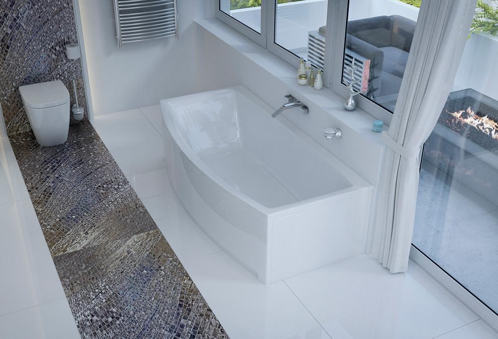M-Acryl Relax egyenes kád 190x90 cm