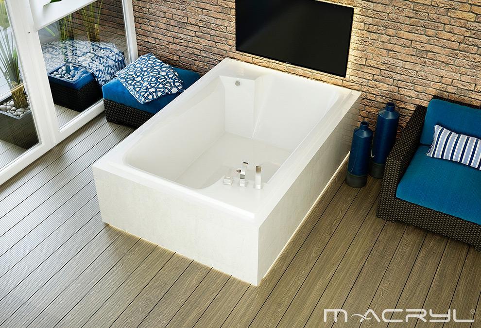 M-Acryl Grande egyenes kád 190x125 cm