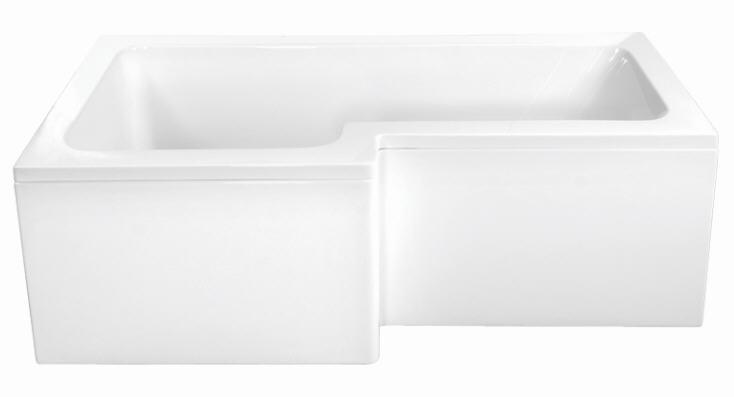 M-Acryl Linea Aszimmetrikus kád 150 x 70 / 85 cm